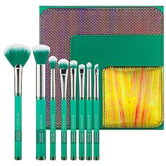 """3/23: """"This is a stunning brush set; I love the emerald bristles. Not that it's just for staring at. The brushes are great to use!"""" -Catherine S., Editorial Director  #Sephora #DailyObsessions"""