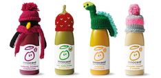 Innocent bottles with knitted hats. We know lots of people knit for charity and this one is perfect for little knits you can take with you in your handbag (or briefcase). We would love to see your own designs or stories, and if you don't knit you can do your bit by buying the drinks from Feb 2016. www.knitting-yarn.co.uk