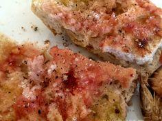 Pa amb tomàquet (pain à la tomate) Quiche, Chicken, Meat, Breakfast, 2013, Food, Tomato Bread, Hispanic Kitchen, Eten