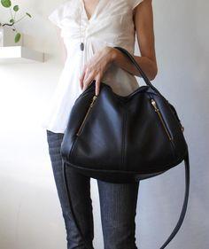 Leather Handbag - OPELLE Botanist Bag - Spring 2011 in Pebbled Leather. $360.00, via Etsy.