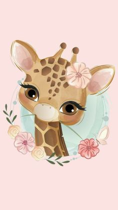 Art Wall Kids, Art For Kids, Baby Animals, Cute Animals, Giraffe Party, Baby Animal Drawings, Baby Room Decor, Fabric Painting, Easy Drawings