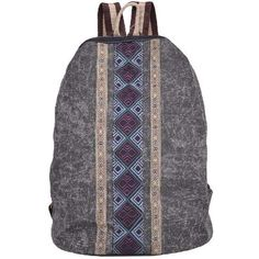 Neo-Retro Style Canvas Backpack