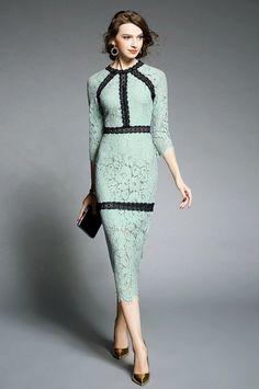 Minty Lace Dress, Maxi Dress, Long Dress, Bodycon Dress  Shop now at www.starstruckwardrobe.com