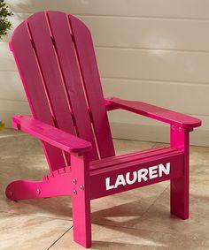 Look at this #zulilyfind! White & Pink Personalized Adirondack Chair by KidKraft #zulilyfinds
