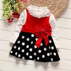 Girls dress suit Minnie Princess Beauty Princess T-shirt Patiala, Churidar, Salwar Kameez, Kurti, Girl Frock Dress, Dot Dress, Dress Lace, Baby Dress, Frocks For Girls