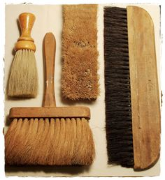 Vintage Longhandled Brush 11 by 6 inches by mothsandrust on Etsy, $16.00
