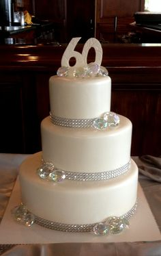 Anniversary Cake With Diamonds  on Cake Central
