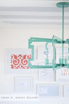 East Coast Creative: From Fluorescent Diffuser to Statement Pendant {Sarah M. Dorsey Designs}
