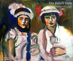 "Katrine Storebø's painting, ""The Paheli Girls ""was first presented in the 1st USEUMexhibition at London's LeDame Art Gallery, and has been sold at auction this week for Deutsche Bank charity of the year, World Child Cancer!See if there's anything for you at USEUM's online Charity Exhibition & Sale for World Child Cancer."