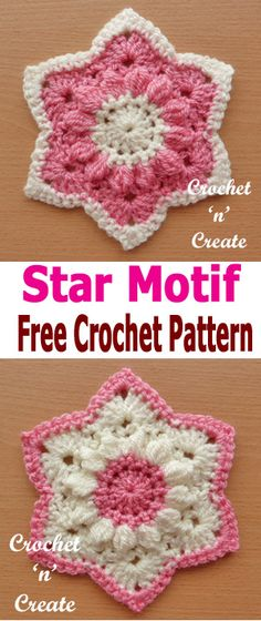 Crochet star motif, use as applique or sew together for blankets etc. #crochetncreate #crochetlove #crochet365 #crochetaddict #crochetpattern #crochetinspiration #crochetgoodness #ilovecrochet #addictedtocrochet #yarnaddict #yarnlove #crochetlife #crochetmotif #crochetapplique #crochetembellishment