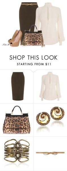 """""""Dolce & Gabbana Cheetah Bags"""" by mz-happy ❤ liked on Polyvore featuring Dorothy Perkins, Alexander McQueen, Dolce&Gabbana, LE VIAN and KG Kurt Geiger"""