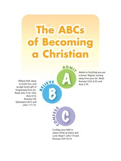 graphic about Abc's of Salvation Printable known as ABC OF SALVATION