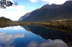 Reflective Lakes, Fiordland, New Zealand