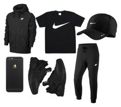 """Nike down"" by flynoflight ❤ liked on Polyvore featuring NIKE, men's fashion and menswear"