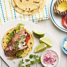 Grilled Avocado and Flank Steak Soft Tacos