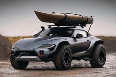 Toyota Supra by Rain Prisk. Render of a high-riding, off-road version of the generation Supra Nissan Vans, Nissan 350z, Buggy, New Toyota Supra, Toyota 4x4, Toyota 4runner, Toyota Tacoma, Toyota Corolla, Luxury Sports Cars