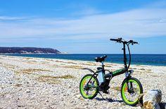 Big Cat ® Hampton Folding Electric bike on cedar beach, long island, New York.  http://www.bigcatelectric.bike/product/hampton-folder-led/?v=7516fd43adaa  #bigcatbikes