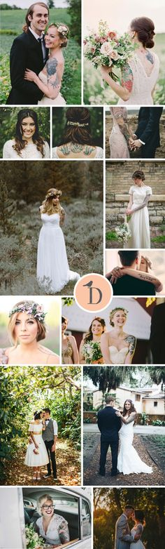 With over a quarter of people having at least one inking, we are seeing more and more brides with tattoos. What's even better, rather than hiding them away on their wedding day, brides are showing off their artwork proudly. Tattoos can be beautiful, feminine, and edgy, and what's more, they look amazing with a wedding dress! These beautiful brides are showing off their stunning tattoos to the max, and we love it!