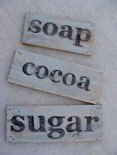 diddle dumpling: Tutorial: Vintage-looking painted sign from salvaged wood