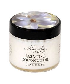 Kuumba Made Coconut Oil in Jasmine. All of these infusions are nutritious skin food, each unique in their own way, but Jasmine is the favorite. An absolutely heavenly scent, and an exceptional, effect