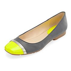 Perky yellow with winter grey flats | Calvin Klein at Macy's