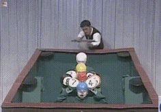 funny gifs, human billiard balls