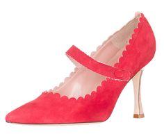 f810da18bc0 Manolo Blahnik Women s Red Suede Mary Jane Pumps Shoes US 6 EU 36