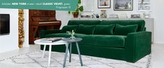 "Søkeresultat for: ""sofaer new york 4 seter xl classic velvet"" Sofas, Modern Sofa, Sofa Furniture, My Dream Home, The Good Place, Cushions, New York, Couch, Living Room"