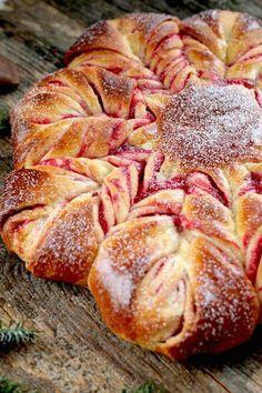 Cranberry Orange Brioche Star | Kitchen Vignettes | PBS Food  Lecker Celebrate Christmas Morning with a Cranberry Orange Brioche Star