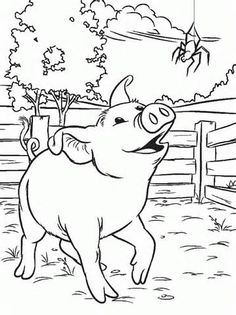 color pages charlottes web coloring page charlottes web http ...
