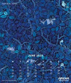 Arena Calendar 2016 June- Tomislav Tomic 2016 Calendar, Illustrators, City Photo, June, Movie Posters, Blog, Image, Film Poster, Illustrator