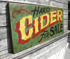 hand painted  # cider  sign by ZekesAntiqueSigns