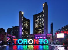 Nathan Phillips Square - Our main civic hub has only become more of an iconic landmark with the addition of the multi-coloured Toronto sign.A slide show of 15 iconic landmarks in Toronto from blogto.com