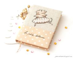 Hand made notebook. Cross stitch on linen.