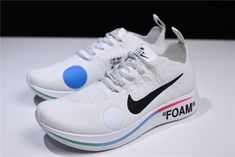 6e5ad87e4 Cheap Off-White x Nike Zoom Fly Mercurial Flyknit White Shoes Free Shipping