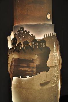 Paper light sculpture by Nicholas Wright