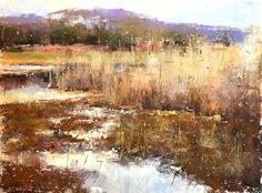Soft Grasses by Jacob Aguiar Pastel ~ 9 x 12