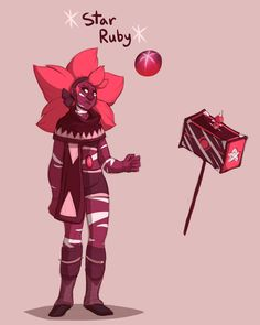 Star Ruby, Bloodshot Iolite´s best friend. She has the hability to imitate other´s voice
