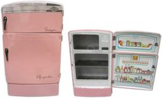 Pink Vintage Tin Litho Toy Refrigerator by Wolverine. #shopgoodwill #goodwill #auction
