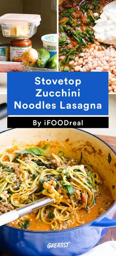 1. Stovetop Zucchini Noodles Lasagna #healthy #dinner #recipes http://greatist.com/eat/clean-eating-ground-turkey-recipes