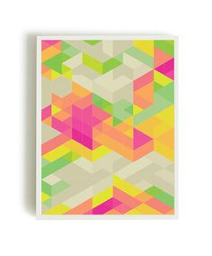 Abstract print poster mid century print poster by angelaferrara, $12.50