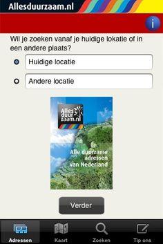 Met de Alles duurzaam-app vinden Nederlanders elk nabijliggend duurzaam adres in een handomdraai. (nl)