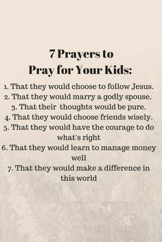 A simple guide to effective praying over your kids!