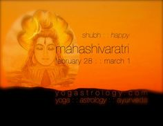 Pisces New Moon, Feb. 28-March 1, is Mahashivaratri. YogAstrology® . YOGA . ASTROLOGY . AYURVEDA . yogastrology.com