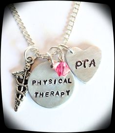 HandStamped Jewelry PT PTA Physical Therapy Staff by ThatKindaGirl, $21.00