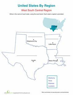 Worksheets: West South Central Region