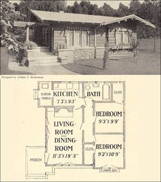 1916 Square Bungalow Cottage. 625 sq. ft. When people built reasonable homes. Why does anyone need a great room and a livingroom?