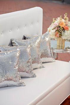 Sparkly pillows …
