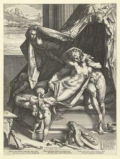 Mars en Venus, Hendrick Goltzius, 1588