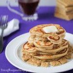 Graham Cracker Pancakes with Cinnamon Syrup
